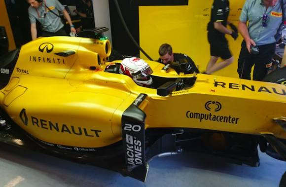 Kevin Magnussen jubler over ny motor! Kevin Magnussen, formel 1, renault f1, circuit de catalunya