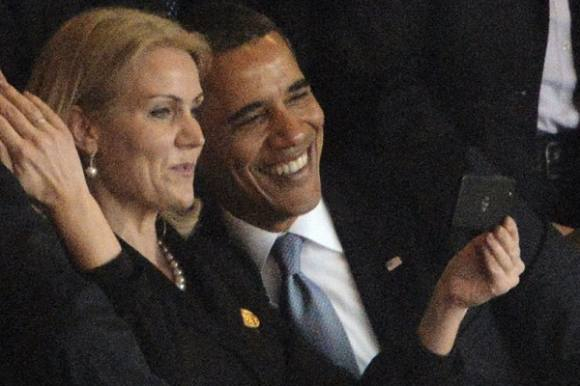Helle Thorning: Vi hyggede os! Helle Thorning, Obama, Mandela, Selfie