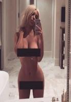 Blond Kim Kardashian twitter nøgen selfie!  Kim Kardashian