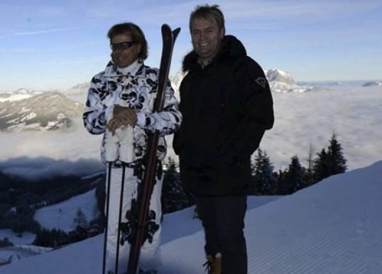 Kandis-Johnny og Hansi i sneen sammen! Johnny, Kandis, Hinterseer