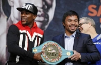 Tyson angriber Mayweather på pressemøde! mike tyson, floyd mayweather, manny pacquiao