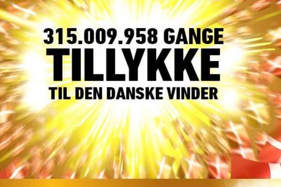Dansk mor til fem vandt 315 mio.! lotto