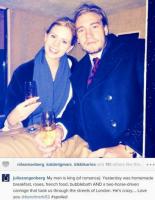 Bendtner og Zangenberg i hestevogn! Nicklas Bendtner, Julie Zangenberg, valentins dag,