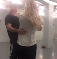 Ouch! Her knockoutes Faxe af dansepartner! vild med dans, john faxe jensen