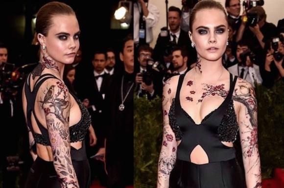Frække Cara får vild krops-tato! cara delevingne, model