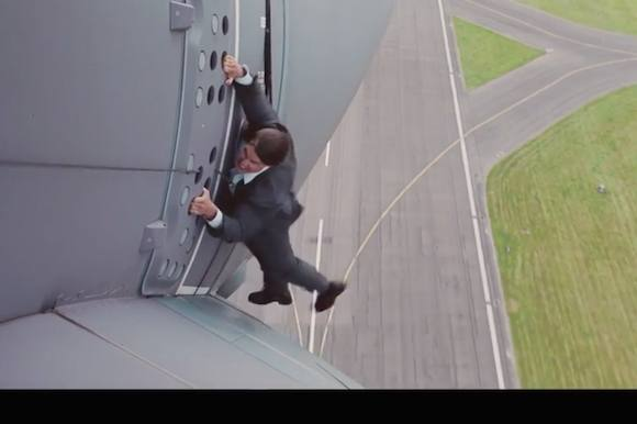 Video: Se Tom Cruise i vanvittigt stunt! tom cruise, hollywood, mission:impossible
