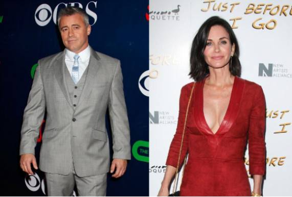 'Joey' og 'Monica' kysser i Hollywood! friends, venner, courteney cox