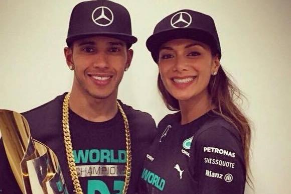 F1-stjerne og sangsild slår op! lewis hamilton, nicole Scherzinger