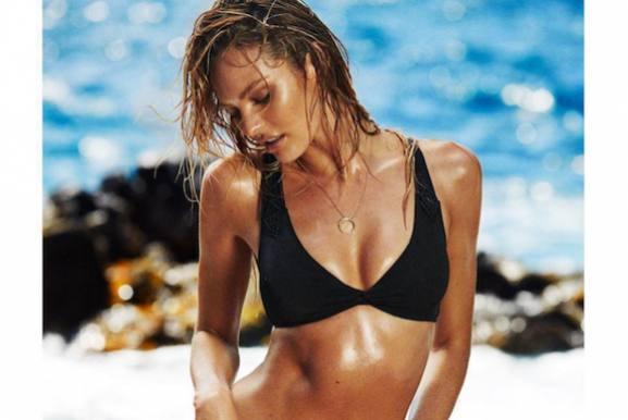 Undertøjsmodel smider trusserne!  Candice Swanepoel