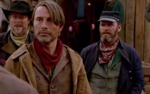 Se Mads Mikkelsen som blodig soldat! Mads Mikkelsen, Salvation, Trailer,