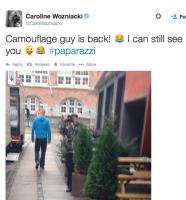 Wozniacki tog billede af paparazzi! caroline wozniacki, tennis