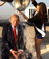 Video: Trump i 'Ice Bucket Challenge'! ice bucket challenge, donald trump