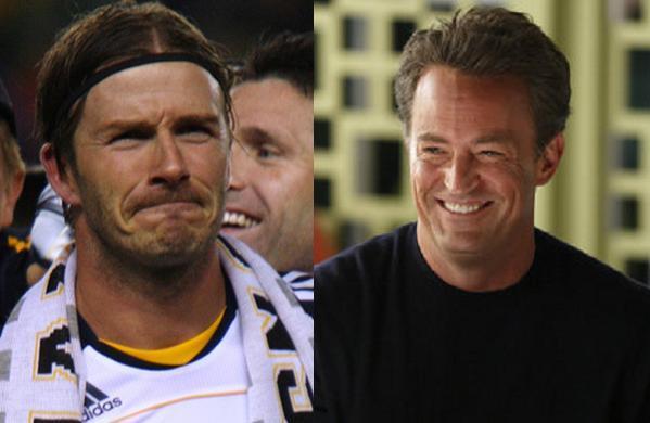 Beckham filmer med Matthew Perry! david beckham, matthew perry, venner, go on,