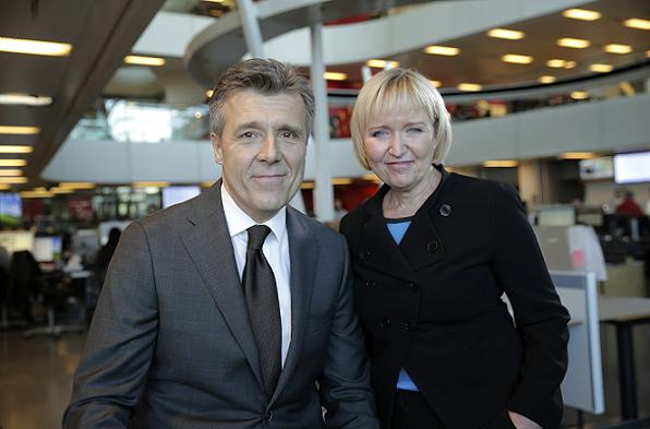 DR får ny TV Avis! tv avisen, tine gøtzsche, klaus bundgård povlsen,