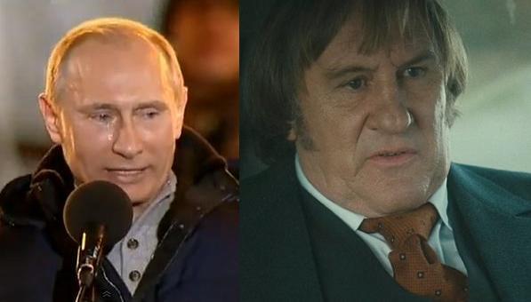 Putin gør Dépardieu til russer! vladimir putin, gérard dépardieu,