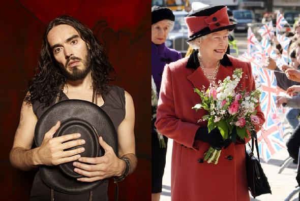 Russell Brand: Sex med dronningen! russell brand, dronning elizabeth, howard stern,