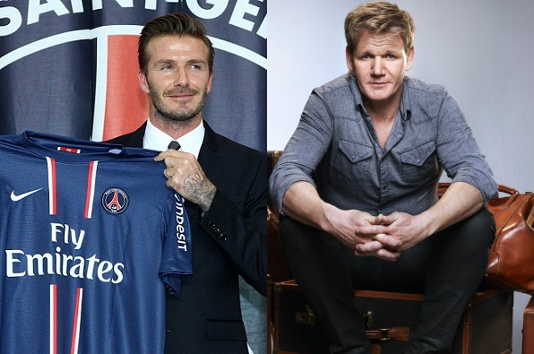 Becks & Ramsay åbner restaurant! david beckham, gordon ramsay,