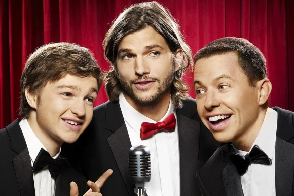 Two and a Half Men mister halvmand! two and a half men, ashton kutcher, charlie sheen,