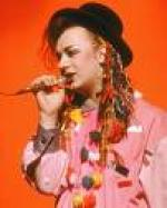 Boy George som skraldemand i N.Y. Boy George,