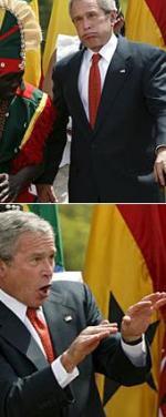 Bush på løs linje George Bush, Malaria