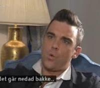 En meget træt Robbie Williams i København ! robbie williams