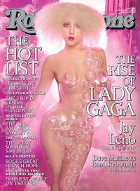 Næsten nøgen Lady Gaga på forsiden af Rolling Stone Magazine Lady Gaga