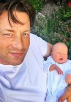 Jamie Olivers nye skøre børnenavn! Jamie Oliver, baby, navn, River Rocket Oliver,