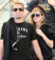 Efter sygdom: Lavigne går til filmen! avril lavigne, chad kroeger