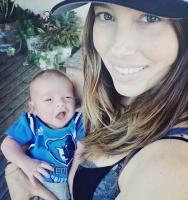 Se Justin Timberlakes nyfødte søn! justin timberlake, jessica biel