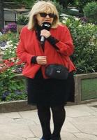 Ulla havde solbriller på i morgen-tv! Ulla Therkelsen, Go Morgen Danmark, solbriller