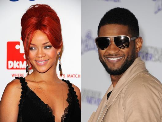 Usher kysser Rihanna!  Usher, Rihanna,