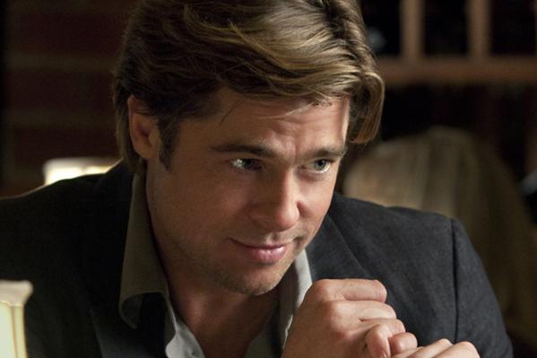 Se Brad Pitt tude over kollega! Brad Pitt, Jonah Hill, Moneyball,