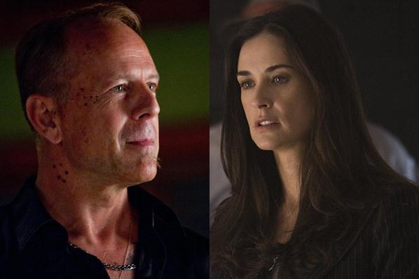 Bruce Willis hjælper syg Demi Moore! Bruce Willis, Demi Moore,