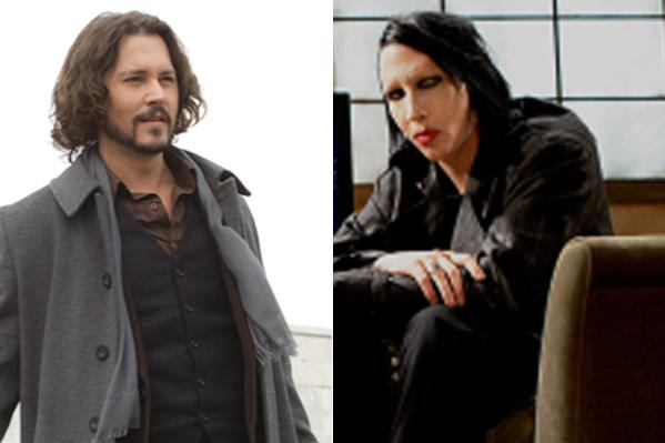 Johnny Depp og Marilyn Manson i duet! Johnny Depp, Marilyn Manson,