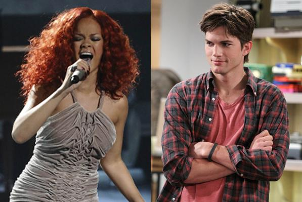 Rihanna og Ashton Kutcher dater! Rihanna, Ashton Kutcher,
