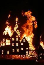 50 Cents hjem i brand 50 Cent, brand