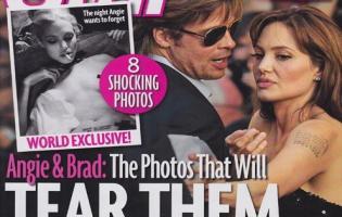 Chockfotos af Angelina Jolie i heroin rus Angelina Jolie,Star Magazine, brad pitt,