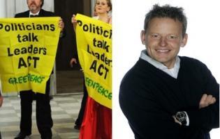 Bubber anholdt i Greenpeace aktion på Christiansborg ! bubber,