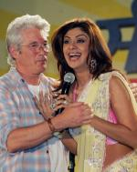 Gere i fængsel for kindkys Richard Gere, Shilpa Shetty