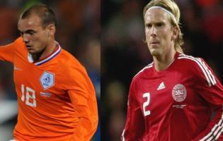 Her sendes Danmarks VM fodbold på TV ! VM fodbold,