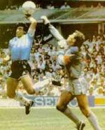 Jeg så Guds hånd Diego Maradona, Guds Hånd, fodbold