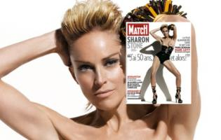 Sharon Stone ligeglad, smider tøjet ...  Paris, sharon stone,