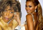 Sympati fra Beyoncé til Whitney Beyoncé, Whitney Houston, Bobby Brown