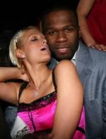 Paris sammen med 50 Cent Paris Hilton
