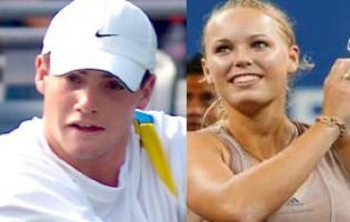 Wozniacki storflirter med John Isner ved US Open !  us open,Wozniacki,